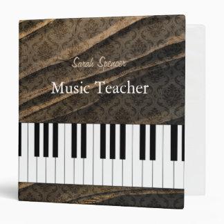 Elegant Personalizable Music Teacher Damask Binder