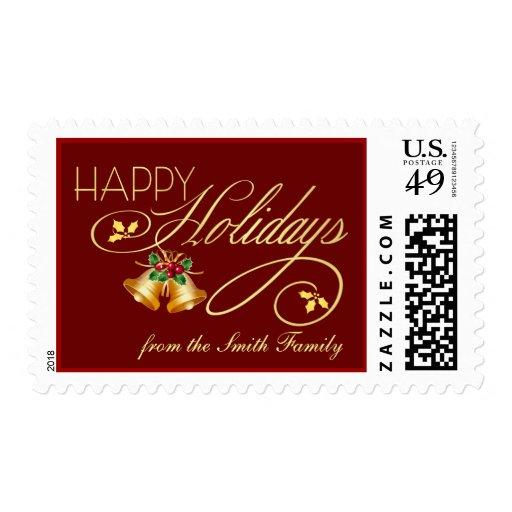 Elegant Personalized Christmas Holiday Postage