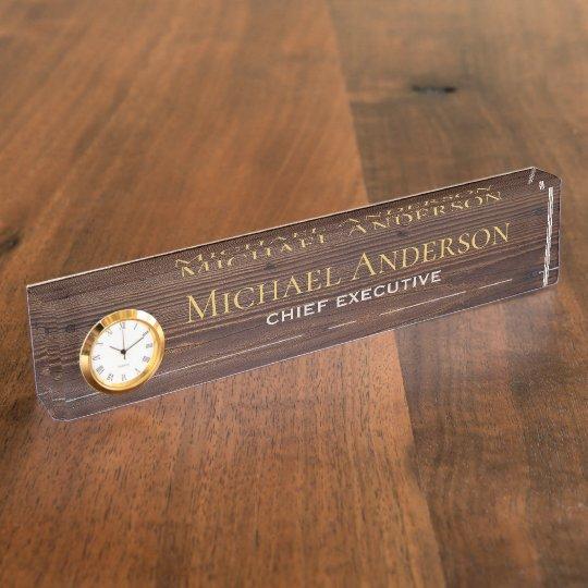 Elegant Personalized Desk NAME Plate Executive