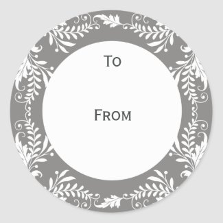 Elegant Personalized Gift Tags Grey sticker