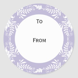 Elegant Personalized Gift Tags Lavender sticker
