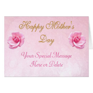 Elegant Personalized Happy Mother's Day Cards