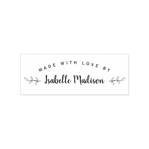 Elegant Personalized Made With Love By Rubber Stamp