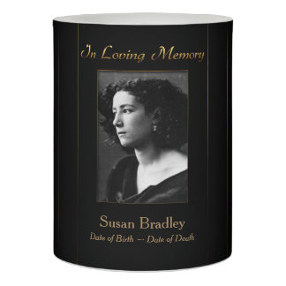 Elegant personalized Memorial Candle with Photo