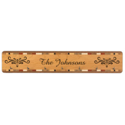 Elegant personalized name key rack