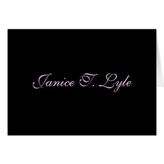 Elegant Personalized Note Card