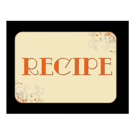Elegant Personalized Recipe Cards