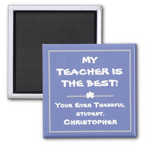 Elegant Personalized Teachers Cute Fridge Magnet