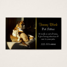 Elegant Pet Care Business Card at Zazzle