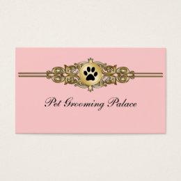 Elegant Pet Grooming Business Cards