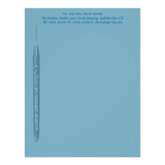 Elegant Petrol Blue Pen Nib Stationery