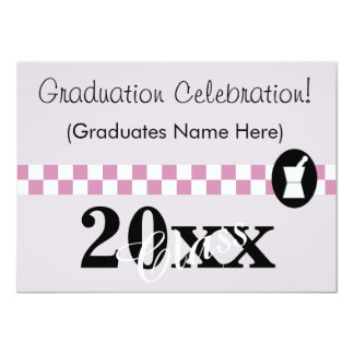 Elegant Pharmacist Graduation Invitations