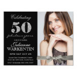 Elegant Photo 50th Birthday Celebration Card