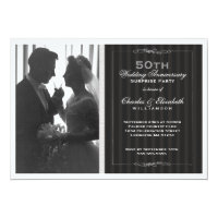 Elegant Photo 50th Wedding Anniversary Party Card