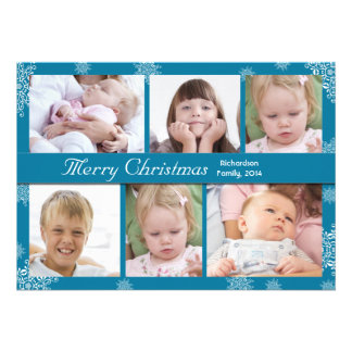 elegant photo collage winter holidays cards