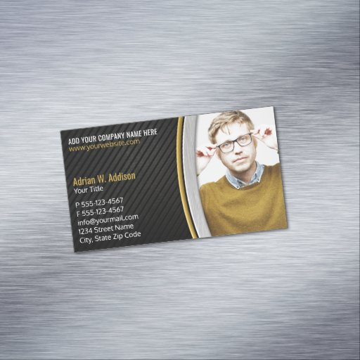 Elegant Photo Financial Tax Accountant Broker Business Card Magnet