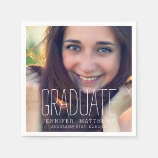 Elegant Photo Graduation Party Paper Napkins
