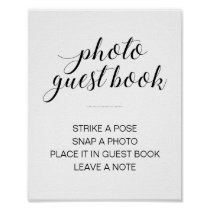 Elegant Photo Guest Book Wedding Sign