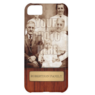 Elegant Photo Name Template Case For iPhone 5C