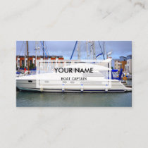Elegant Photo Overlay | Boat Captain Business Card