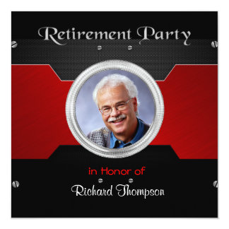 Elegant Photo Retirement Party Invitations