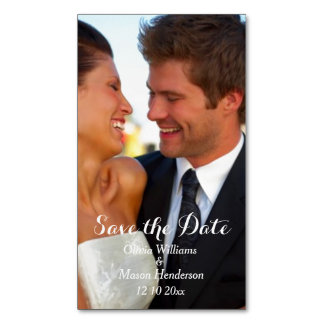 Elegant Photo Save the Date Magnet Magnetic Business Card