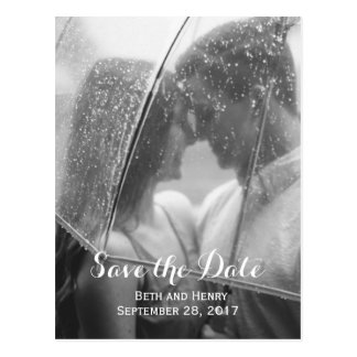 Elegant Photo Save the Date Postcard
