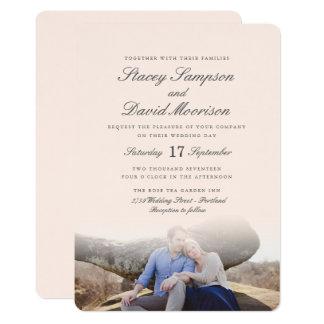 Elegant Photo Wedding Card