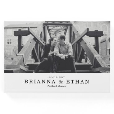 origamiprints Elegant Photo Wedding Guest Book