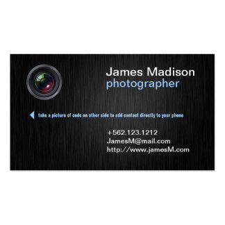 Elegant Photography Business Card w/ QR Code