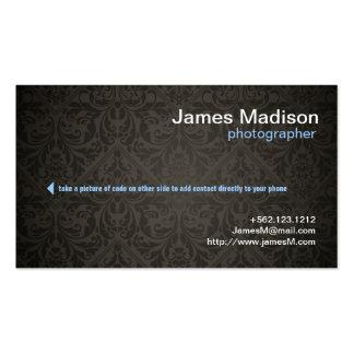 Elegant Photography Business Card w QR Code