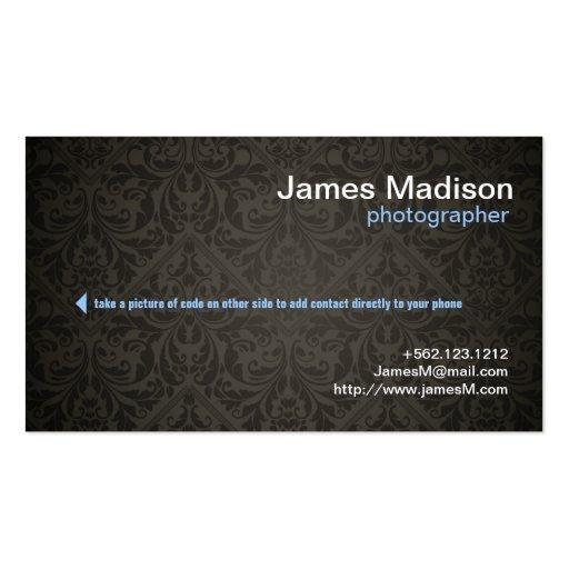 Elegant Photography Business Card w/ QR Code