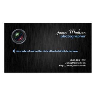 Elegant Photography Business Card w QR Code II