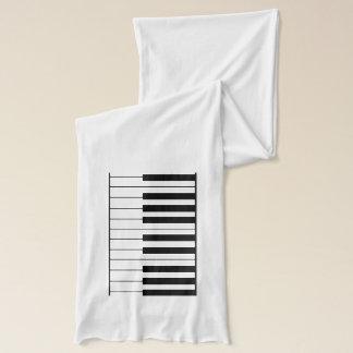 elegant piano keys scarf