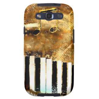 Elegant Piano Music & Notes Samsung Galaxy SIII Covers