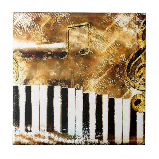 Elegant Piano Music & Notes Ceramic Tile