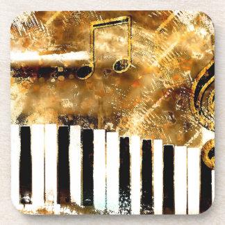Elegant Piano Music & Notes Coaster