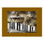 Elegant Piano Music & Notes Poster