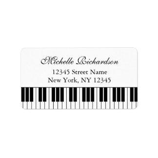 Elegant piano teacher or pianist address labels