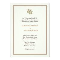 Elegant Pine Cone Wedding Invitation