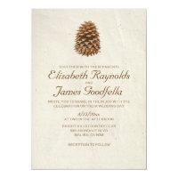 Elegant Pine Cone Wedding Invitations