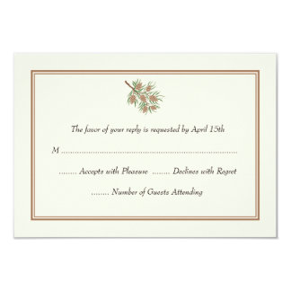 Elegant Pine Cone Wedding RSVP Cards