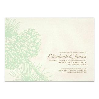 Elegant Pine Cones Wedding Invitations Custom Invitation