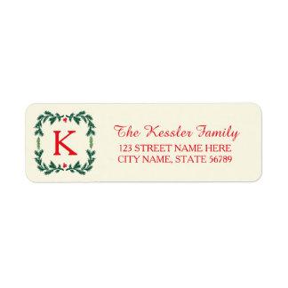 Elegant Pine Holiday Return Address Labels