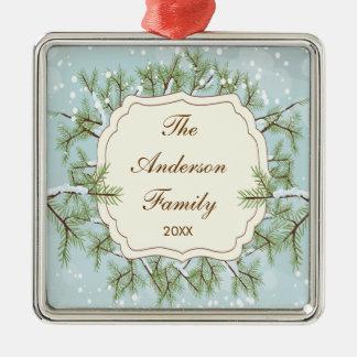 Elegant Pine Tree  Branche Dated Family Christmas Christmas Ornament