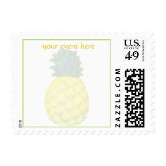 Elegant Pineapple Special Event Postage Stamp