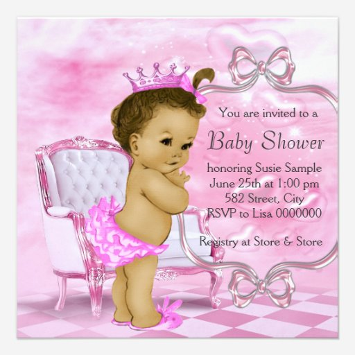 custom african american princess baby shower invites templates, Baby shower