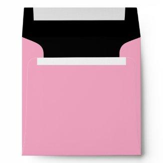 Elegant Pink and Black Linen Envelopes