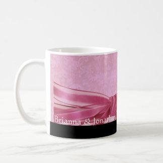 Elegant Pink and Black  Wedding Damask Mug