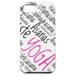 Elegant Pink and Black Yoga Positions Asanas iPhone 5 Case
